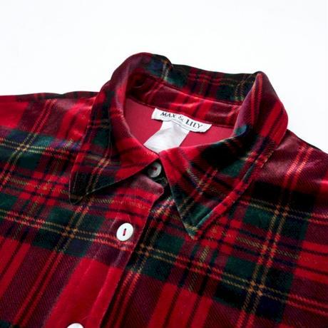 Red Velor  Shirt