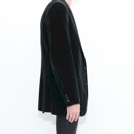 Euro Vintage Black Velour Jacket