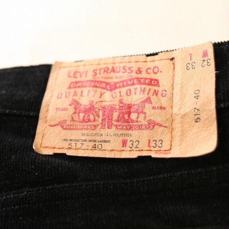 Levis 517 Black Corduroy Pants