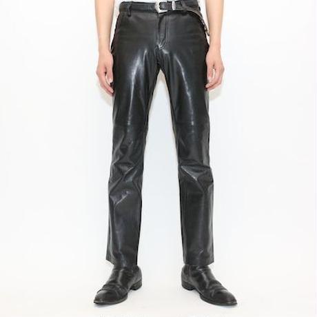 GAP Black Leather Flared Pants