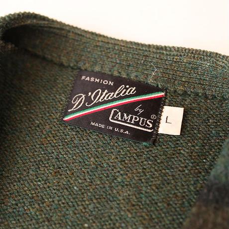 Vintage Mohair Check  Cardigan