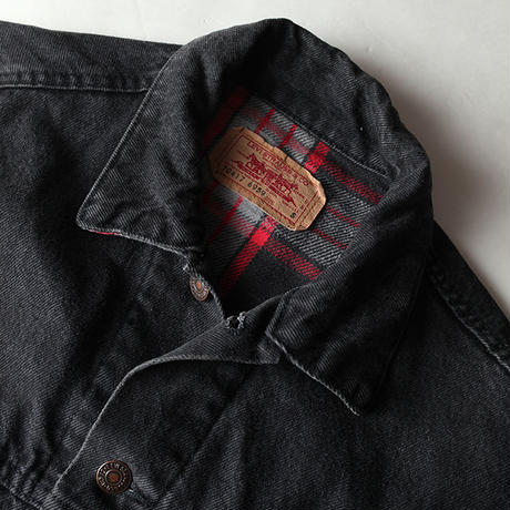Vintage Levis Black Denim Trucker Jacket