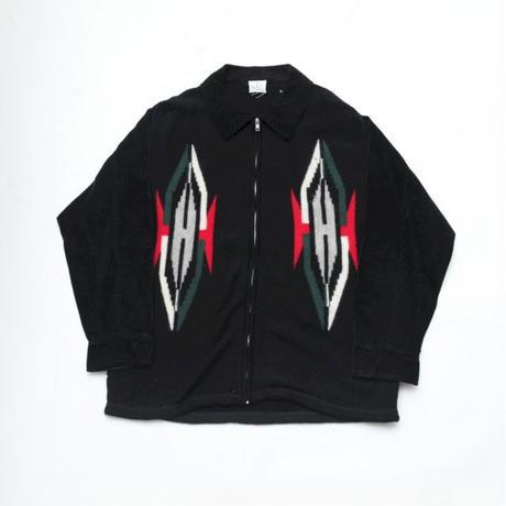Native Pattern Knit × Corduroy Jacket