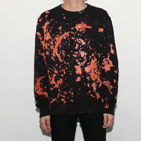 Hard Bleach Wash Cotton Sweater