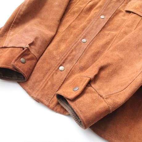 Suede Trucker Type Jacket