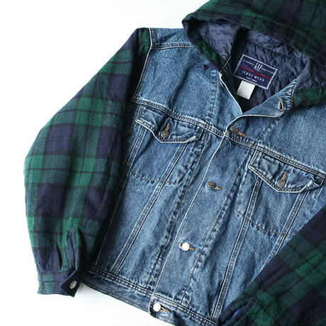90s Gap Denim Jacket With Hoodie
