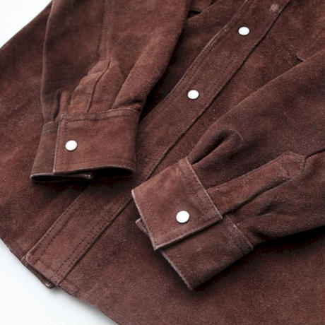 Suede Leather Western Shirt