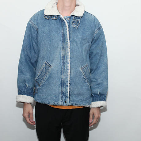 B-3 Type Denim Boa Jacket