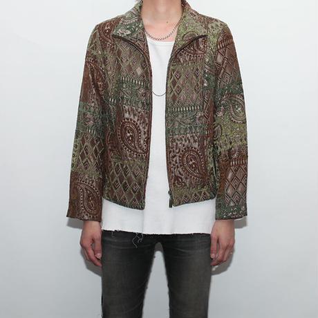 Paisley Zip Up Jacket