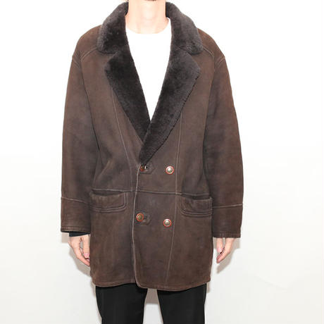Vintage Yves Saint Laurent Mouton Coat