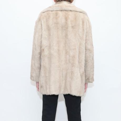 60's Mincara By Russel Taylor Faux Fur Coat