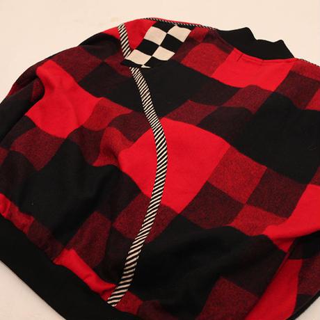 Funny Checker Pattern Cardigan