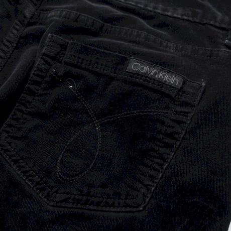 Calvin Clein Black Velour Flared Pants