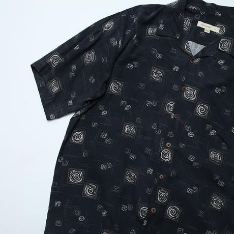 シルク 総柄シャツ Silk S/S Shirt