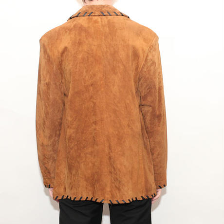 Suede Piping Jacket