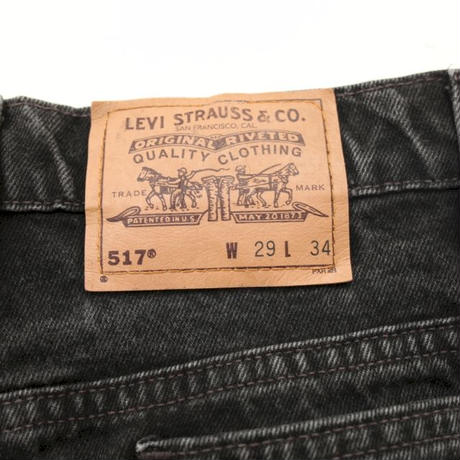 Levis 517 Black Denim Pants  MADE IN USA