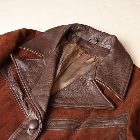 70s Suede Leather Coat