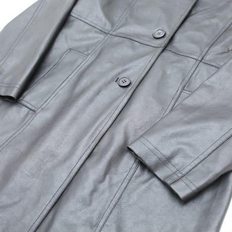 Fake Leather Coat