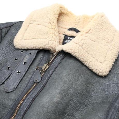 Schott B-3 Black Mouton Jacket