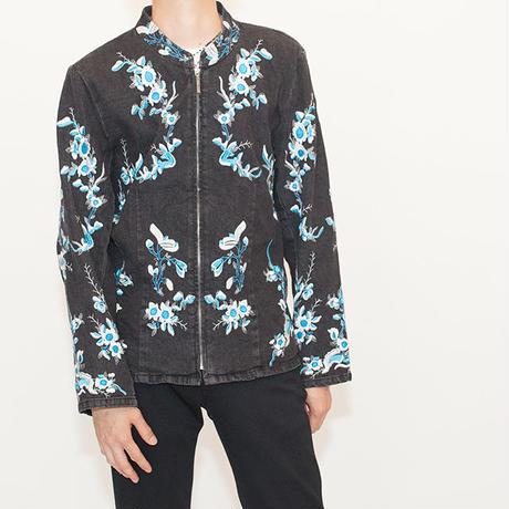 Embroidery Zip Up Jacket
