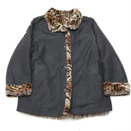 Reversible Leopard Faux Fur Coat