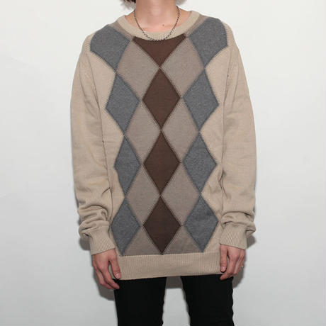 Argyle Cotton Sweater