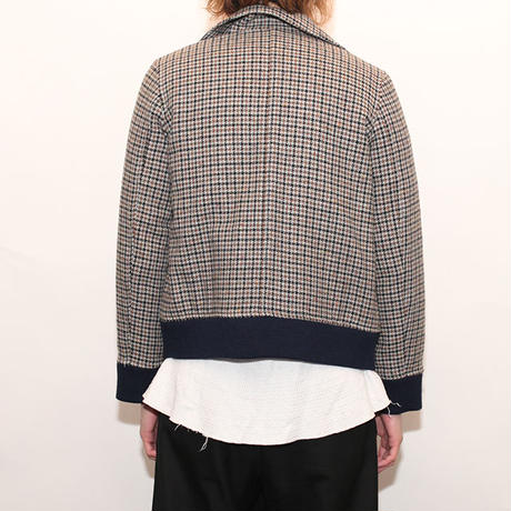 Houndstooth Check Jacket