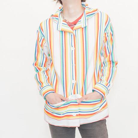 Stripe Hooded Blouson