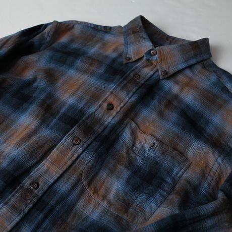オンブレチェック ネルシャツ