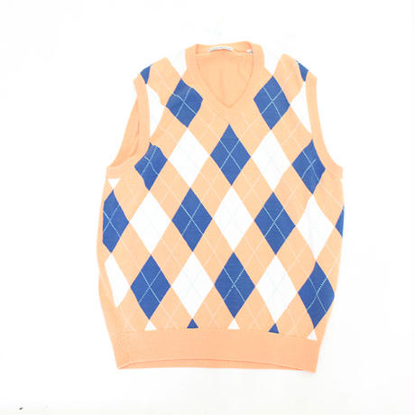 Argyle Pattern Knit Vest