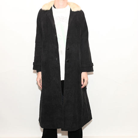Euro Vintage Corduroy Long Coat