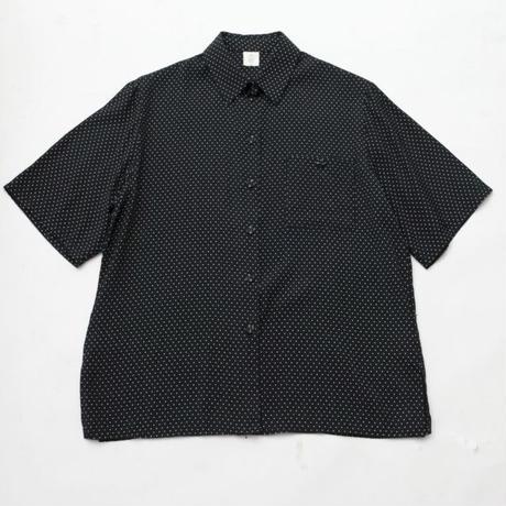 Euro Vintage Viscose Dot Pattern S/S Shirt