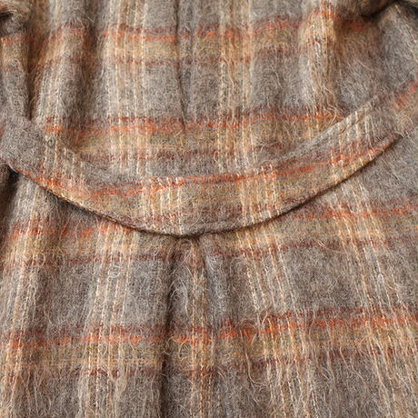 Vintage Mohair Wool Checker Coat