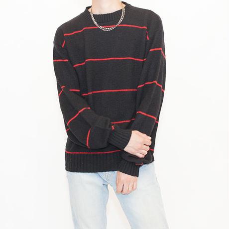 Border Pattern Wool Sweater