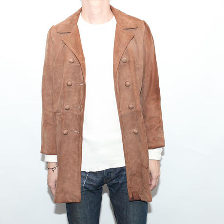Nuback Leather Half Coat