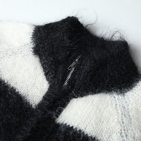 Zip Up Mohair Sweater