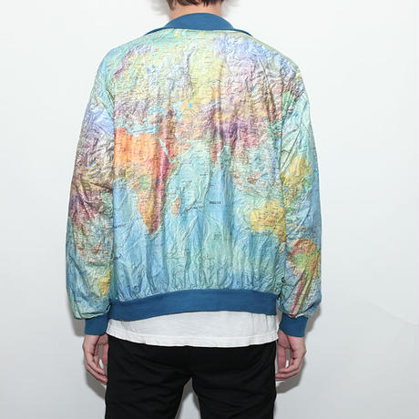 Vintage Paper Jacket World Map