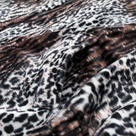 Animal Pattern Zip Up Jacket