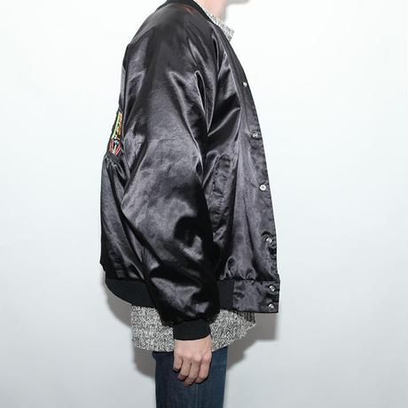 Black Satin Embroidery Jacket