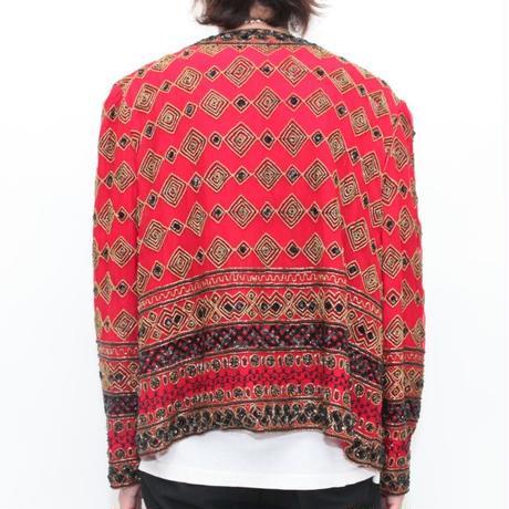 Vintage Silk Jacket with Sequins
