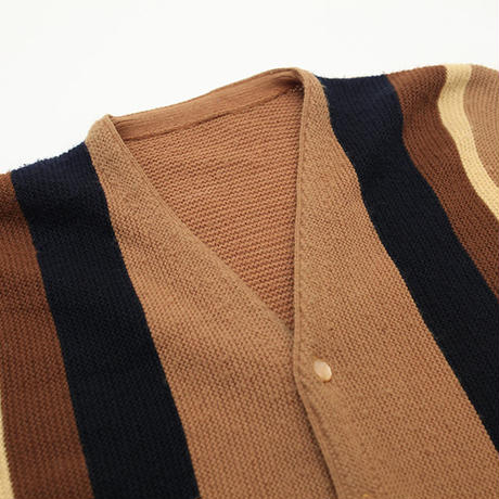 Vintage Stripe Knit Cardigan