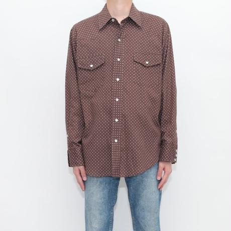 Dot Pattern Western Shirt