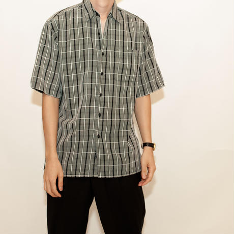 Black Checker Pattern S/S Shirt