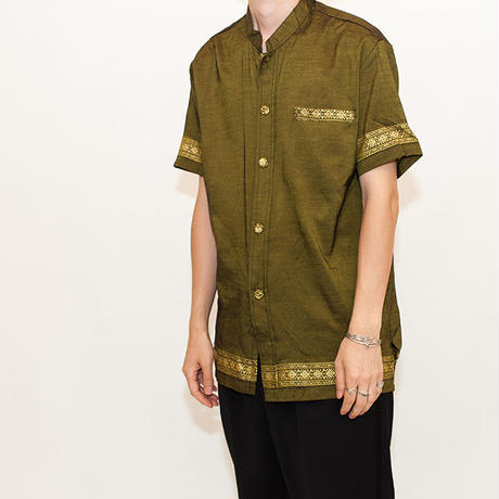 Ethnic Pattern S/S Shirt