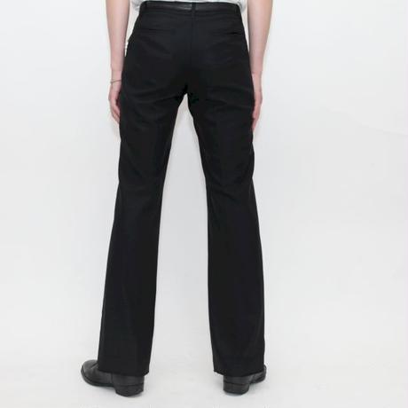 Black Flared Slacks Pants
