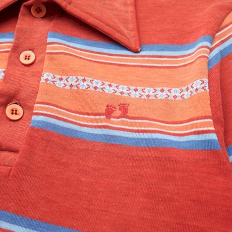 70's HANG TEN Knit Polo Shirt