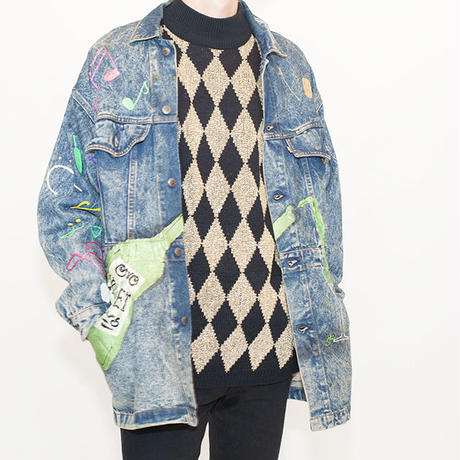 Nicely Painted Levis Denim Jacket