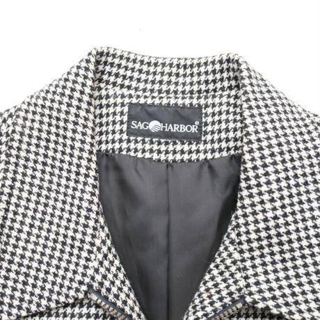 Black×White Hound's Tooth Jacket