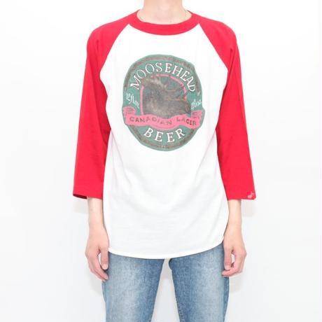 Beer Print Raglan Sleeves T-Shirt