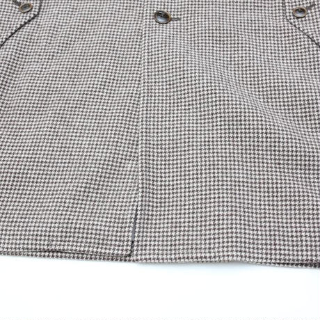 Houndstooth Check Coat